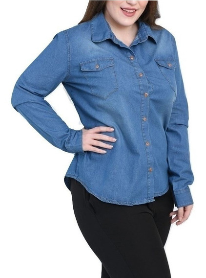 Camisa Jean Mujer Talles Grandes