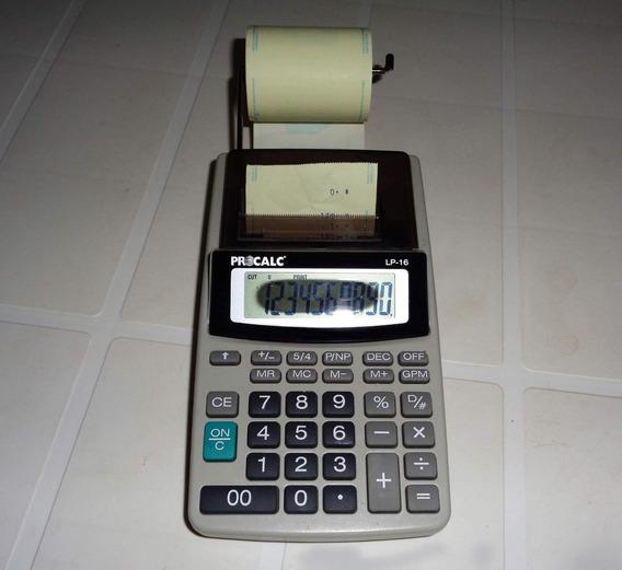 Antiga Calculadora De Impressão Procalc De Mesa Com Bobina