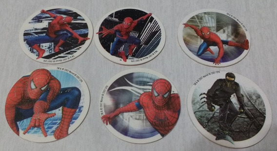 Lote De 6 Tazos Formis Hombre Araña Marvel 2007 Spiderman 3