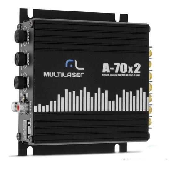 Módulo Potência Amplificador 2 X 35w 4 A 8 Ohms - Multilaser