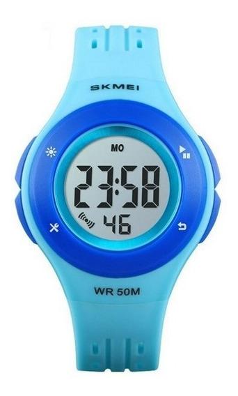 Relógio Infantil Criança Skmei 1455 Azul/rosa Promoção...