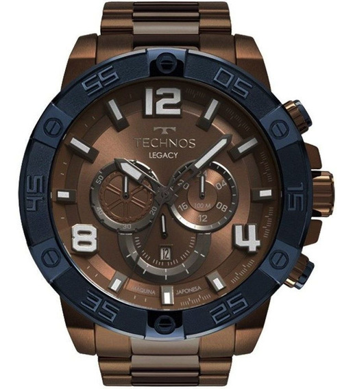 Relógio Technos Original Masculino Legacy Marrom Os2abo/4m