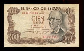 Cédula Da Espanha- 100 Pesetas- Soberba- Frete Grátis- L.439