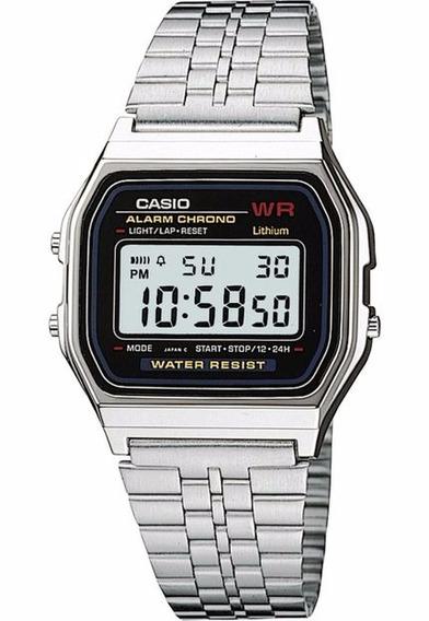 Relógio Casio Prata A159wa N1df Original Nfe + Garantia