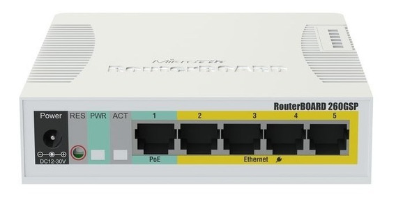 Mikrotik Rb260gsp Switch Poe 5 Gigat 4 Poe Out 1 Sfp+ Swos