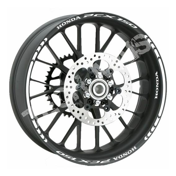 Kit Faixas Rodas Adesivos Refletivos Para Honda Pcx 150