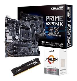 Kit Gamer Asus A320m-k + Athlon 200ge + Hyperx 4gb 2400mhz