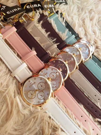 Relógio Feminino Eura (10 Unids + Baterias Extras)