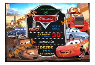 Tarjetas De Invitacion Infantiles En Foami Cars En Mercado