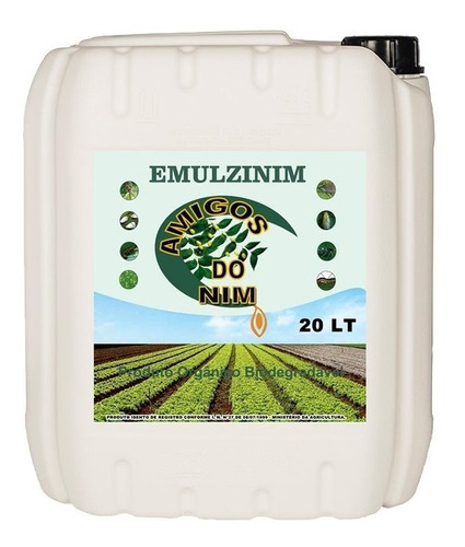 Oleo Nim Neem Emulsionado 20 Litro Agricola Horta Jardim