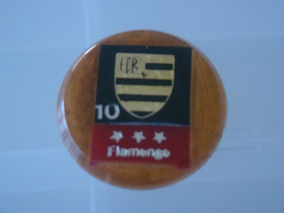 Cod 022 - Botão Embandeirado Do Flamengo Numero 10 Antigo