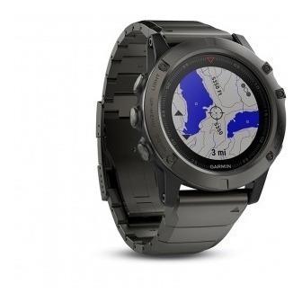 Relogio Garmin Gps Fenix 5x Sapphire (pulseira Metal) Cinza