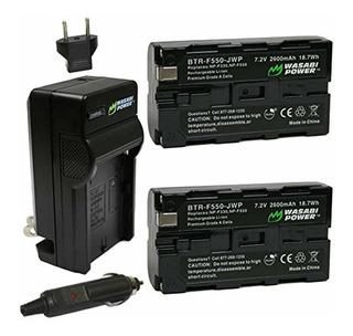 Wasabi Powerbatería Y Cargador Para Sony Np-f330, Np-f550