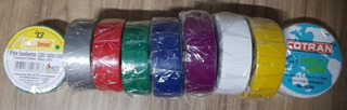 10 Un Fita Isolante Antichama - Colorida. 19mm X 10m Cotram