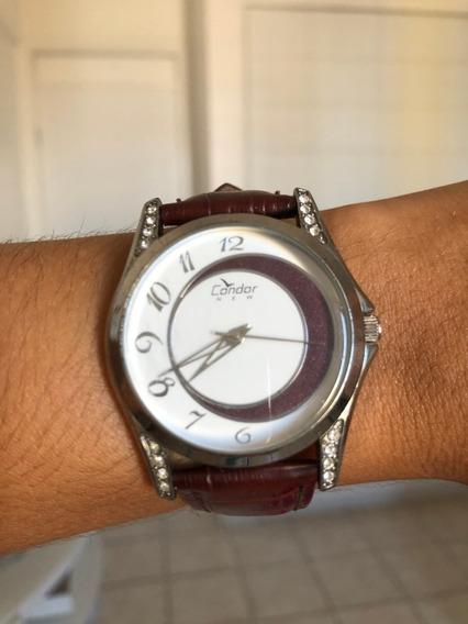 Relógio Condor Com Pulseira De Couro