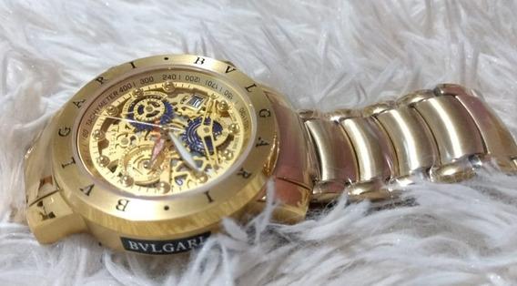 Relógio Masculino Dourado Pesado