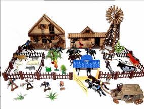 Kit Fazendinha Gigante Brinquedo Forte Apache Tamanho Gulive