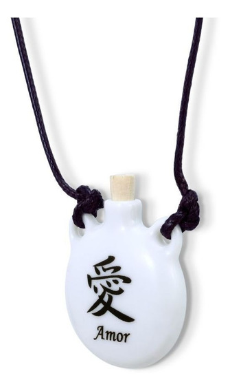Colar Difusor Aromaterapia Pessoal Ou Porta Perfume Amor