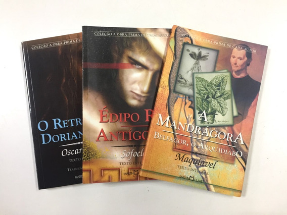 Kit Livros: A Mandrágora+édipo Rei+o Retrato De Dorian Gray