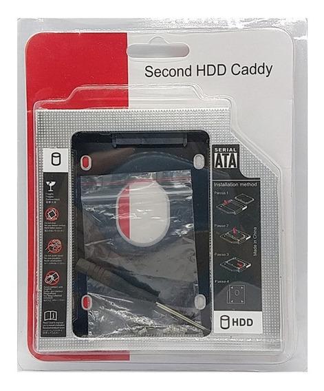 Adaptador Caddy Segundo Disco Notebook Hdd Sata O Ssd 12,7mm