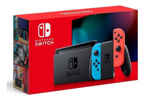 Imagem 1 de 4 de Console Video Game Nintendo Switch De 32 Gb Neon Red E Blue