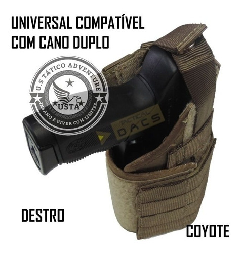 Coldre Militar Universal Molle Pistola Tactical Dacs Coyote