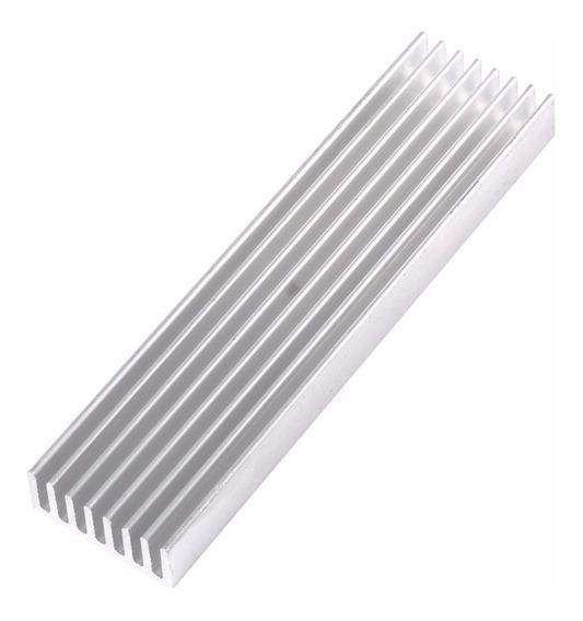 Dissipador De Calor Alumínio Eletrônica 100x28x6mm