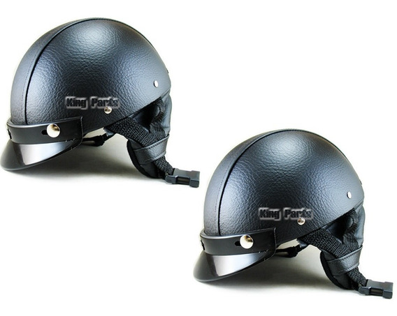 02 Capacetes Coquinho Couro Moto Bike Chopper Custom Harley