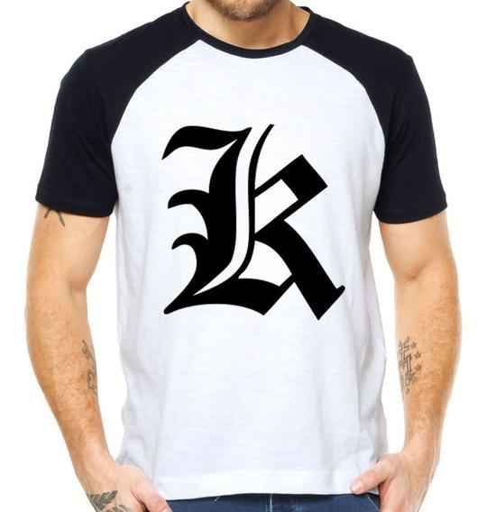 Camiseta Death Note K Kira Camisas Anime Manga Desenhos Top