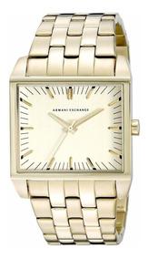 Relógio Armani Exchange Quadrado Dourado - Ax2219