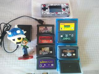 Game Boy Micro + Cargador Original + 7 Juegos Originales