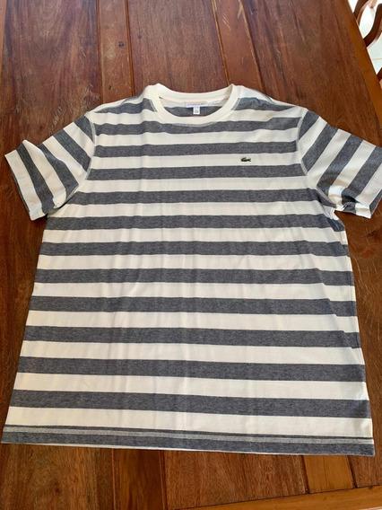 Camiseta Lacoste Original Xxl Nova Sem Uso