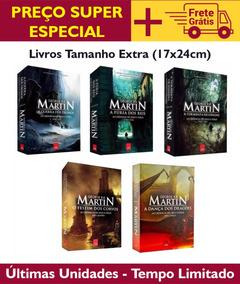 Box Tamanho Extra - Game Of Thrones - 5 Livros - Lacrados