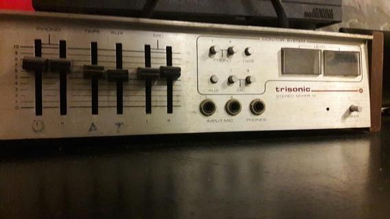 Trisonic Stereo Mixer V I 6 Para Repuestos Decoracion