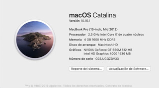 Impecable Macbook Pro 15
