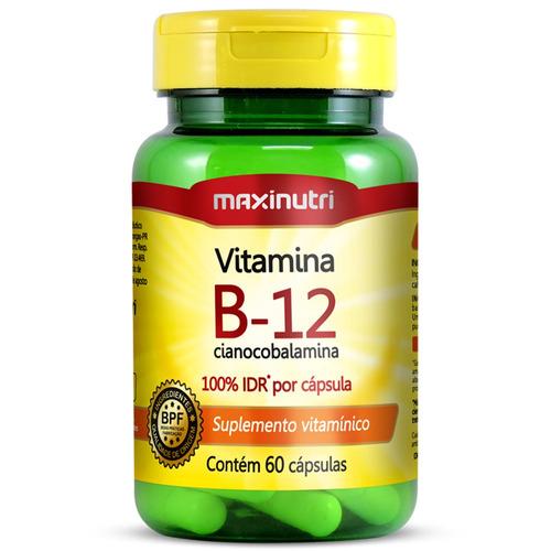 Vitamina B12 100% Idr Com 60 Cápsulas - Maxinutri