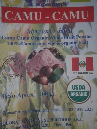 Camu Camu En Polvo Liofilzado Orgánico Certificado Y Raw