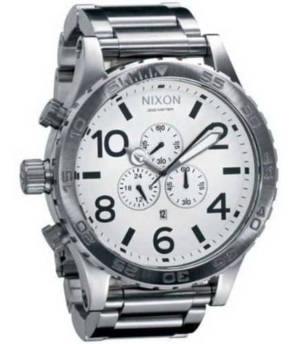 Relógio Nixon 51 All Prata A083 2790 Original Australiano
