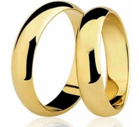 Aliança Ouro 18kl Noivado E Casamento 12g Lisa Tradicional