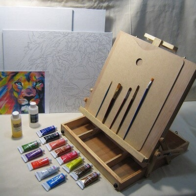 Kit Básico Pintura Al Oleo, Caballete Tipo Maletin, El Mejor