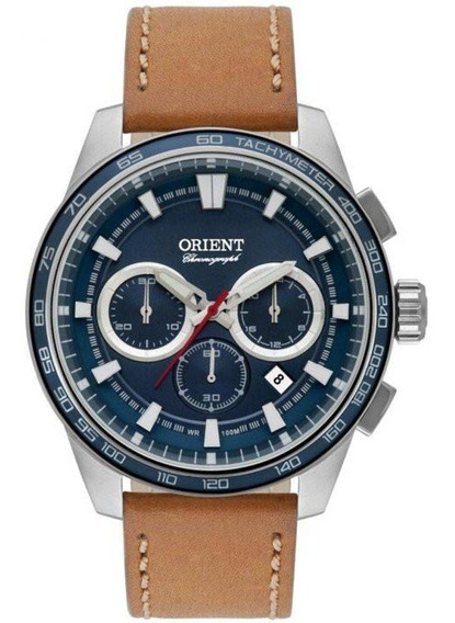 Relógio Masculino Orient Couro Marrom Mbscc046d1mx