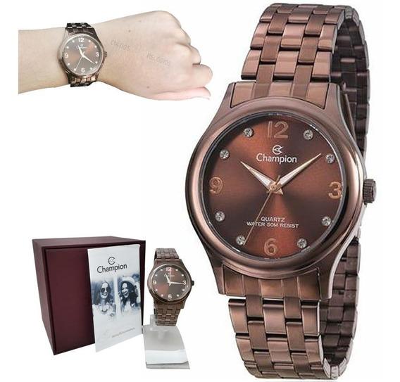Relógio Champion Feminino Chocolate Cn28991r
