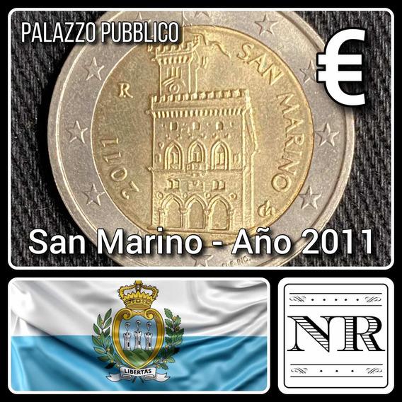 San Marino - 2 Euros - Año 2011 - Edificio - Km #486