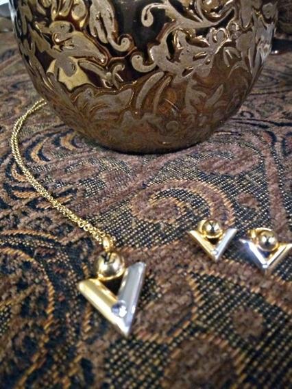 Accesorio Louis Vuitton ( Collar Y Aretes )
