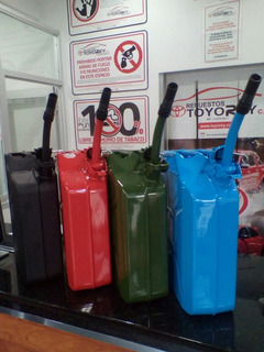 Bidon 20lts Metal Para Almacenar Gasolina Pico Anti Derrame