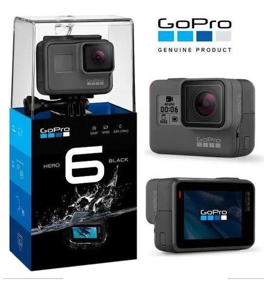 Go Pro Hero 6 + 128gb Classe 10 + Kit Completo Dome+ Brindes