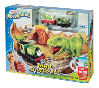 Thomas Adventures Pista Con Dinosaurio Jugueteria El Pehuén