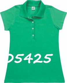a31cd62977 Camisa Pólo Feminina Manga Curta Sem Bolso - Ref. 10893
