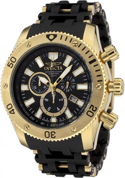 Relógio Invicta Sea Spider 0140 Original Banhado Ouro