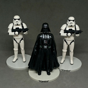 Kit De Bonecos Miniaturas Darth Vader Stormtrooper Star Wars